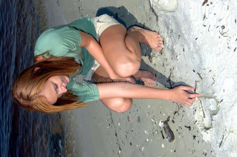 海滩图画重点 免版税库存图片