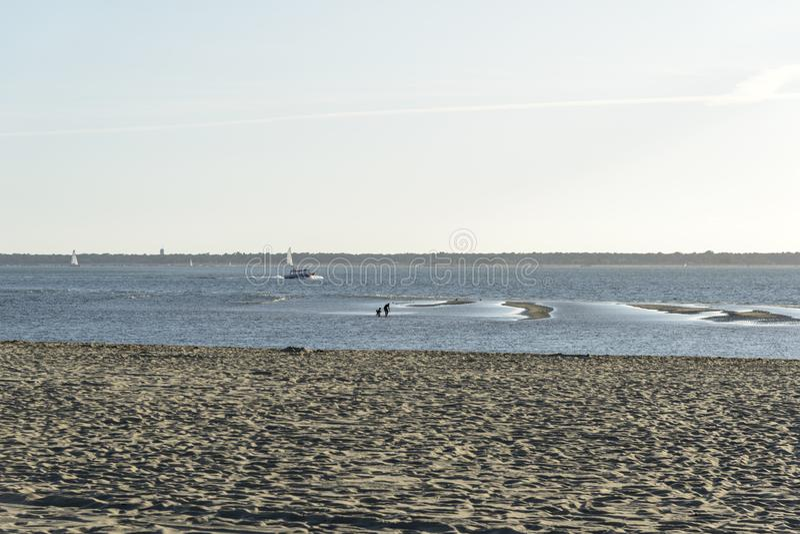 海滩在下午的法国 图库摄影