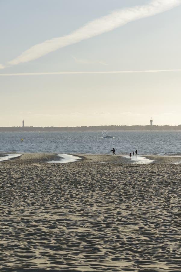 海滩在下午的法国 库存照片