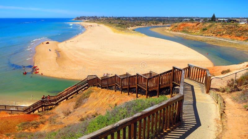 海滩在南澳大利亚 库存图片