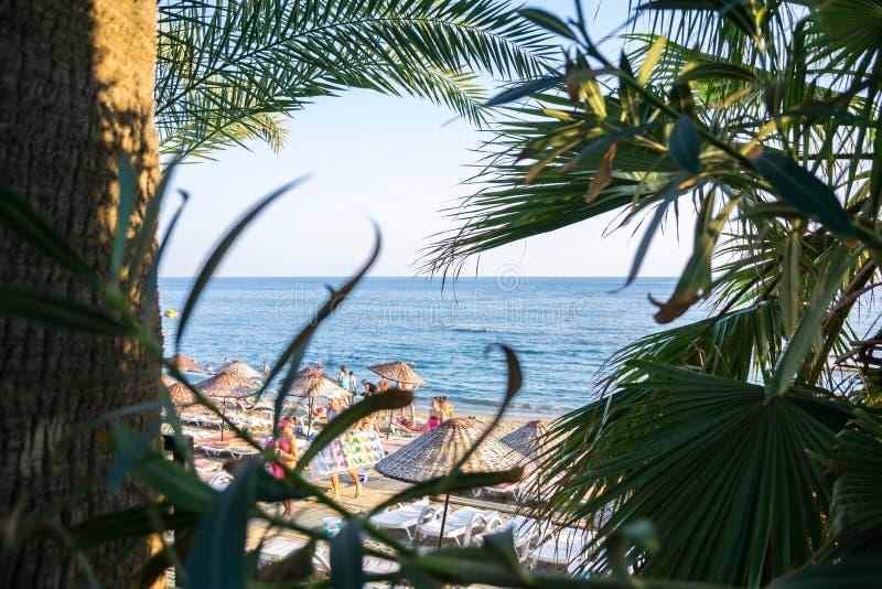 海滩在土耳其 库存图片