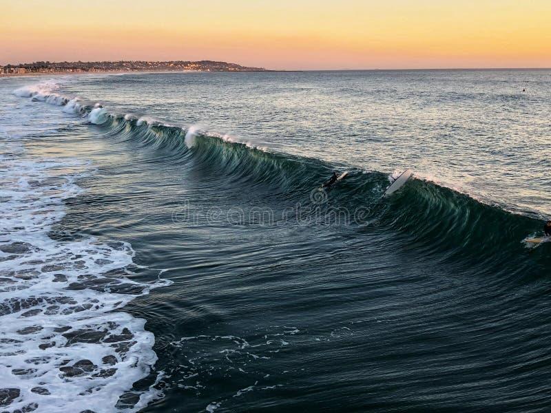 海滩在圣迭戈,美国 免版税图库摄影