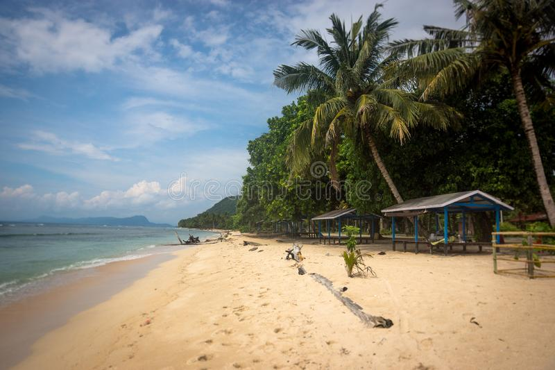 海滩在巴布亚新几内亚 图库摄影