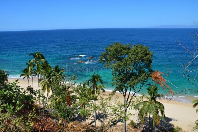 海滩在普埃尔托巴利亚塔哈利斯科州墨西哥 库存图片