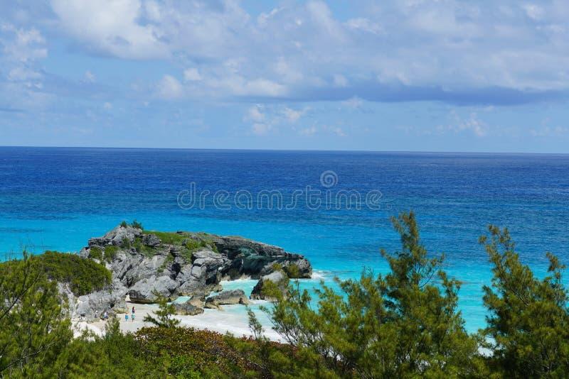 海滩在百慕大 库存照片