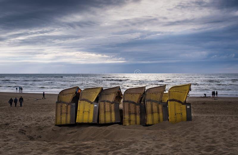 海滩在荷兰 免版税库存照片