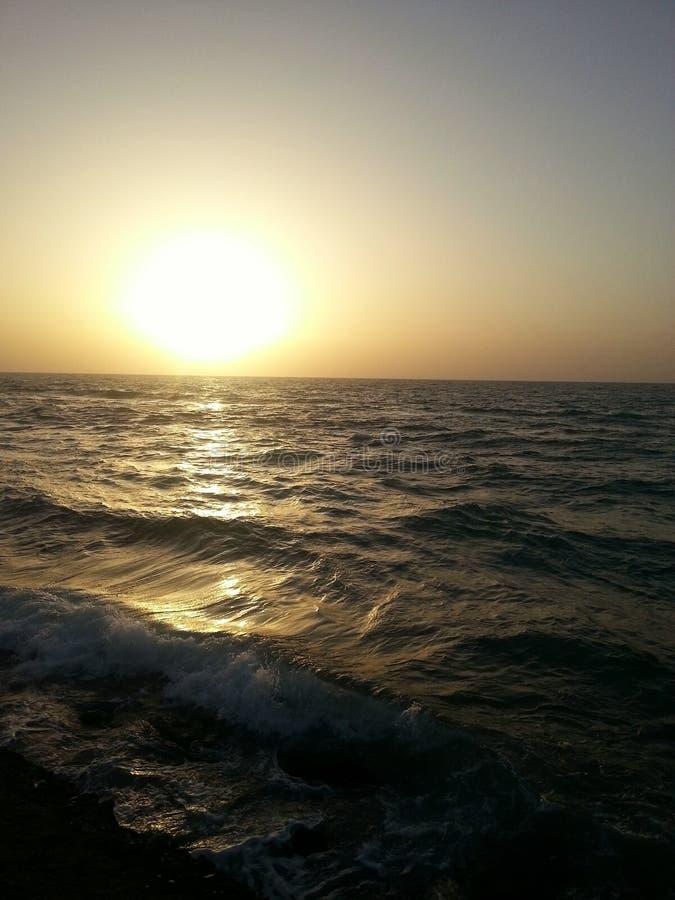 海滩在里雄莱锡安以色列 免版税库存图片