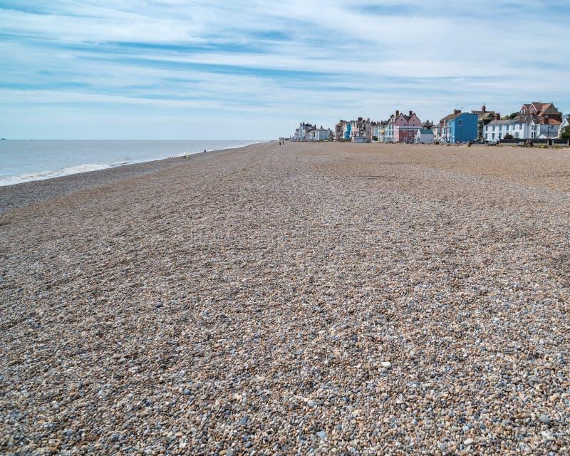 海滩在Aldeburgh,英国 免版税库存图片