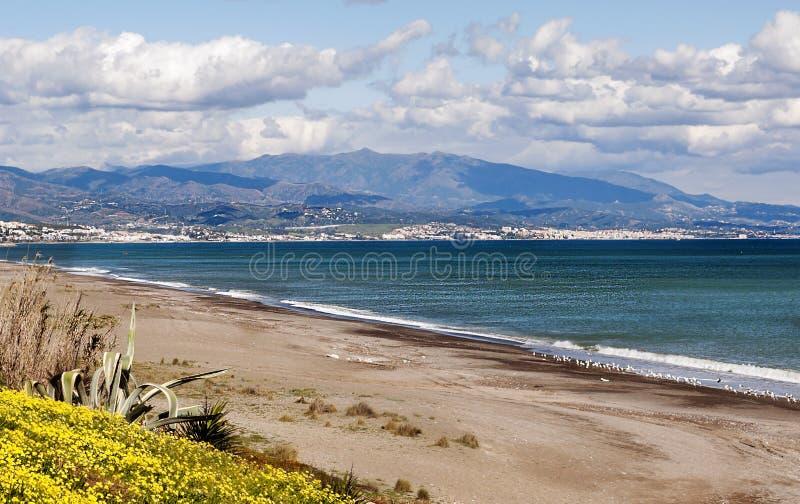 海滩在Estepona 库存照片