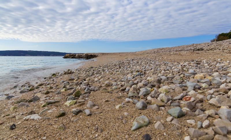 海滩在Kastel Luksic 库存照片