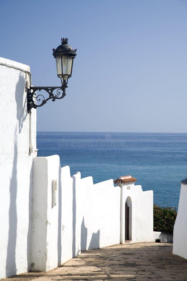 海滩地中海对走道 免版税库存照片