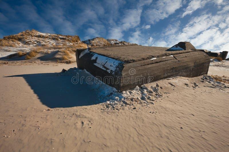 海滩地堡丹麦 免版税库存照片