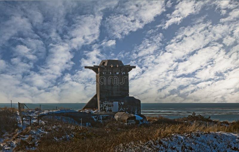 海滩地堡丹麦 库存图片