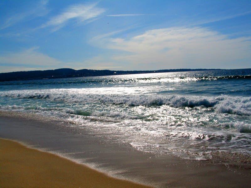 海滩场面 库存照片