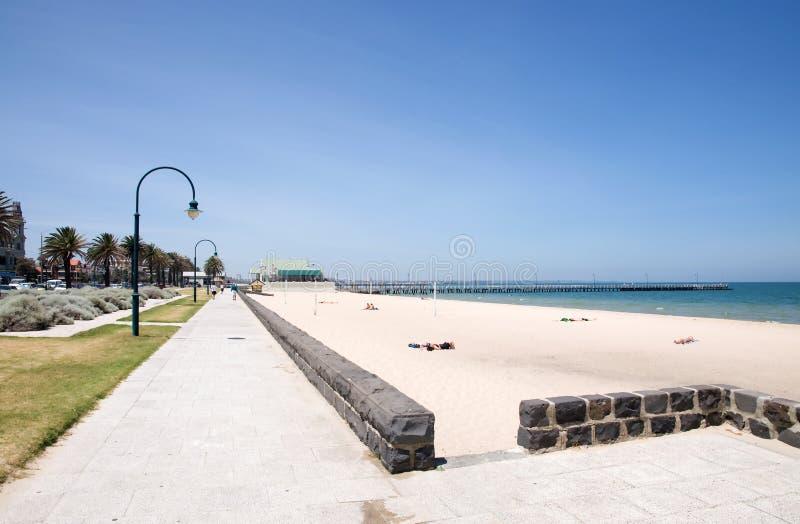 海滩城市墨尔本 库存图片