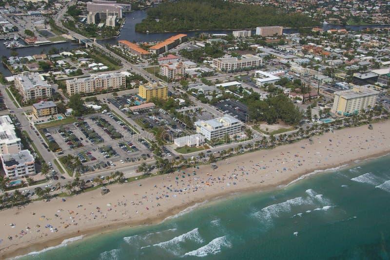海滩城市deerfield 库存图片