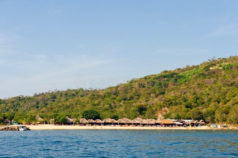 海滩墨西哥水 免版税库存照片