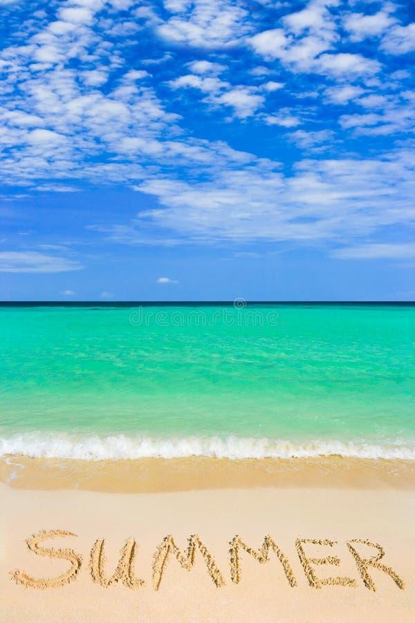 海滩夏天字 库存照片