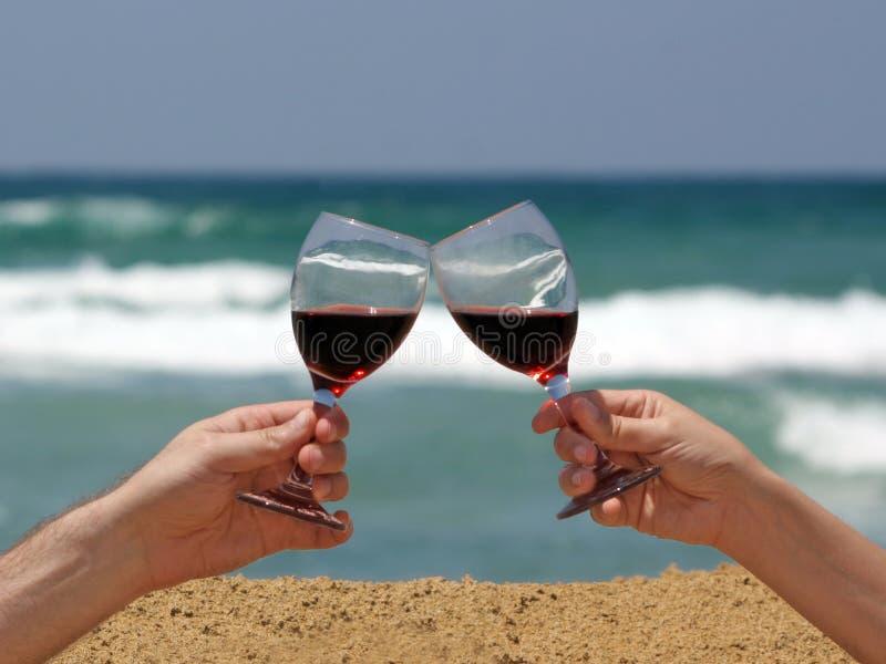 海滩多士酒 免版税库存图片