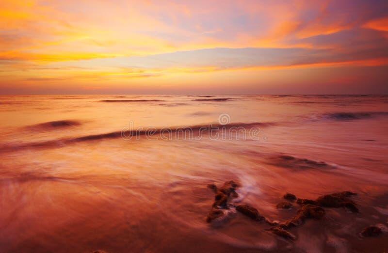 海滩夜间 库存照片