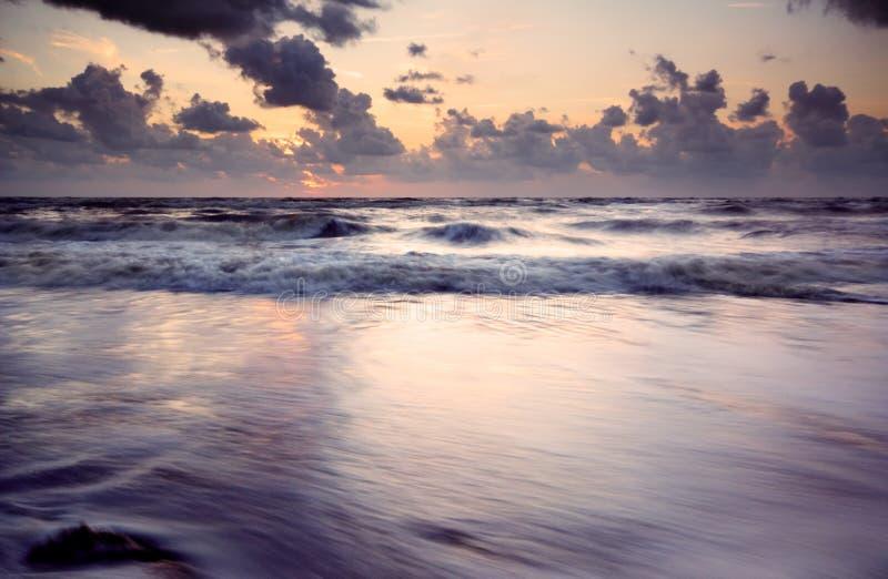 海滩夜间 免版税图库摄影
