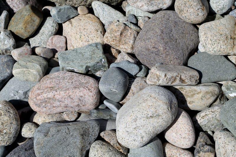 海滩大卵石 图库摄影