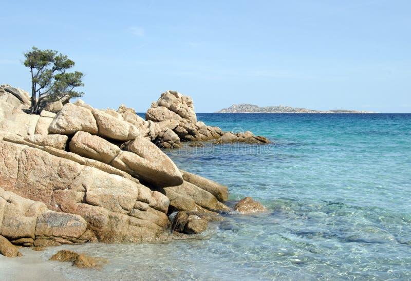 海滩天堂撒丁岛 免版税库存图片