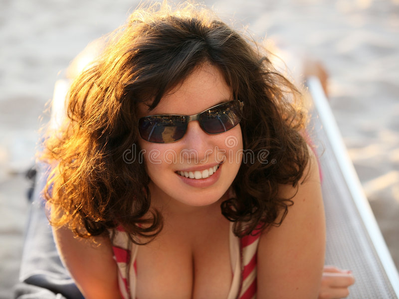 海滩女孩 免版税库存照片