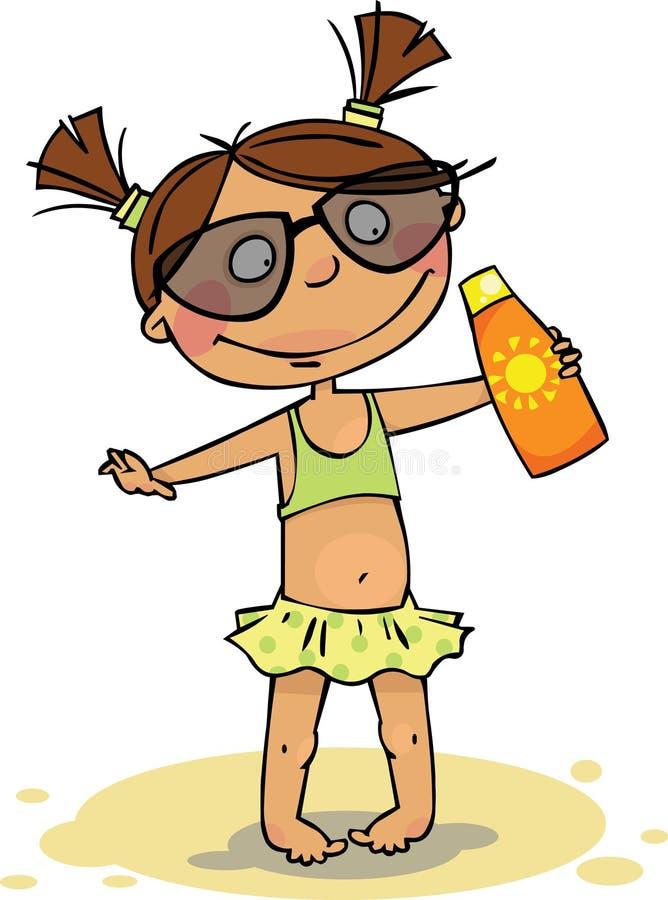 海滩女孩 向量例证