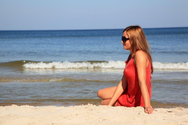 海滩妇女 库存图片