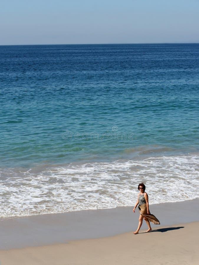 海滩妇女 图库摄影