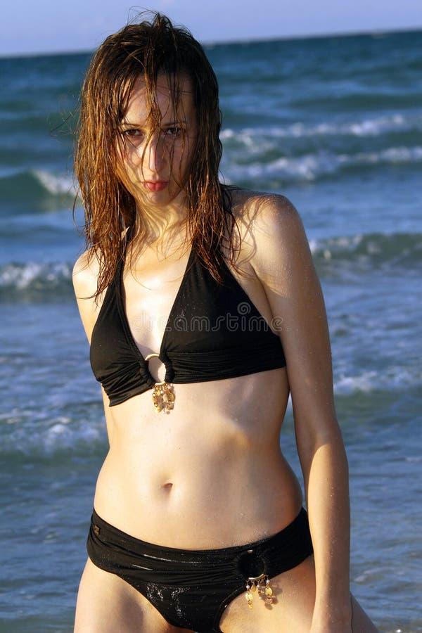 海滩妇女 库存照片