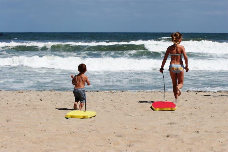 海滩孩子 图库摄影