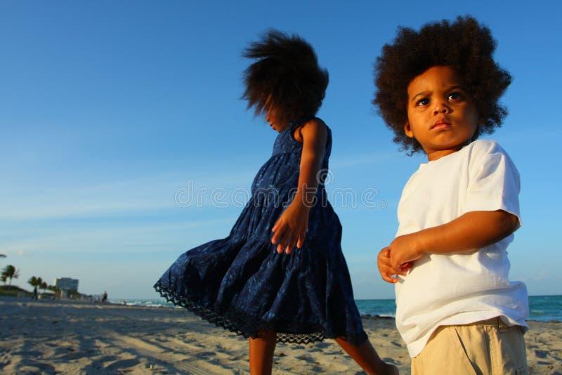 海滩孩子 免版税库存图片