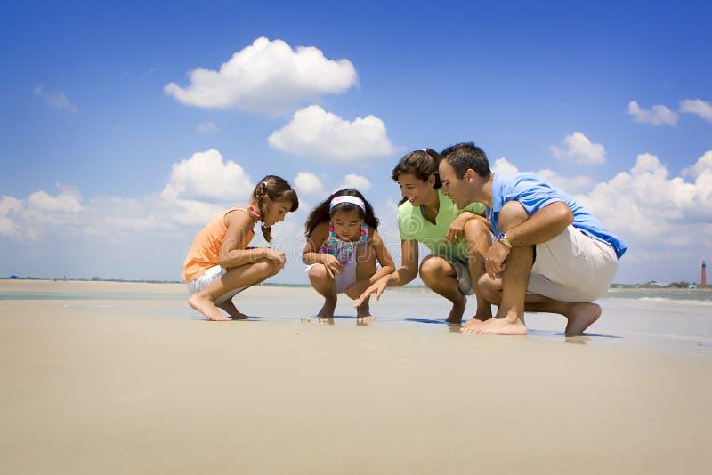海滩家庭度假 图库摄影
