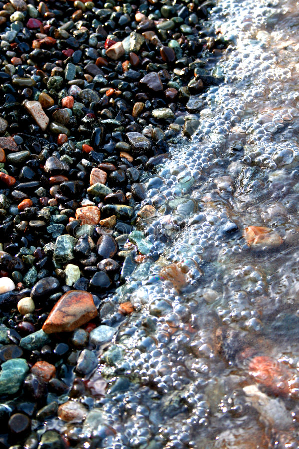 海滩小卵石 免版税库存图片