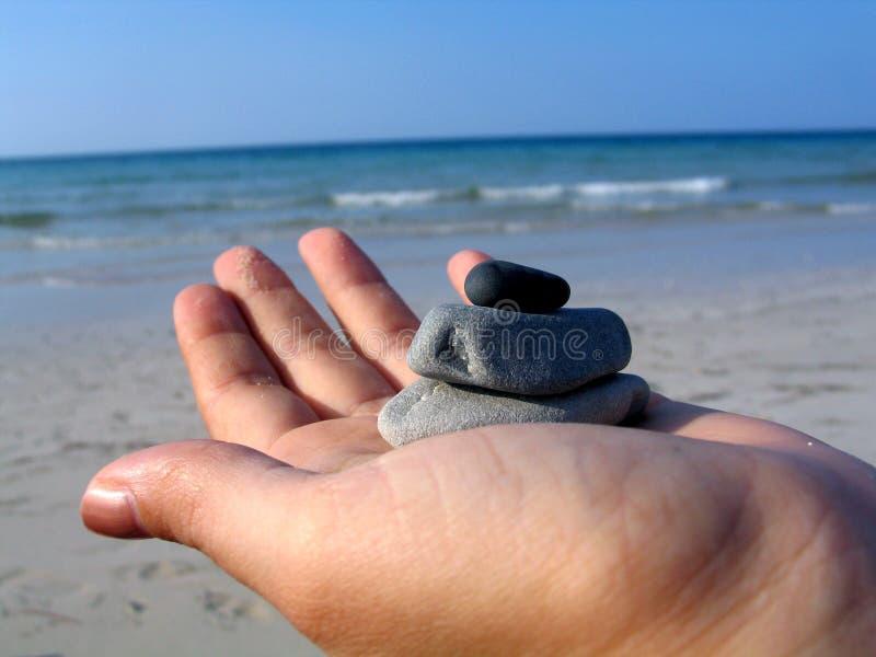 海滩小卵石 库存照片