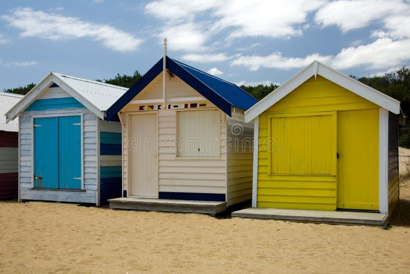 海滩小屋 库存图片