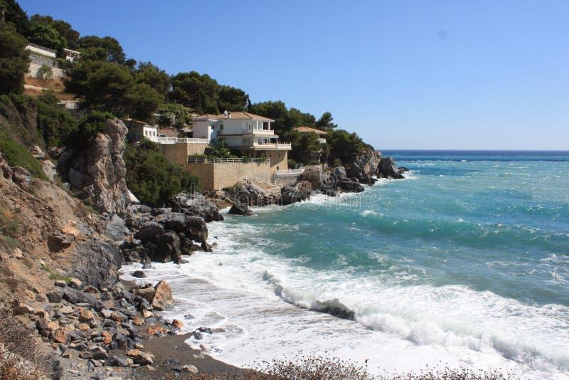 海滩小海湾 库存图片