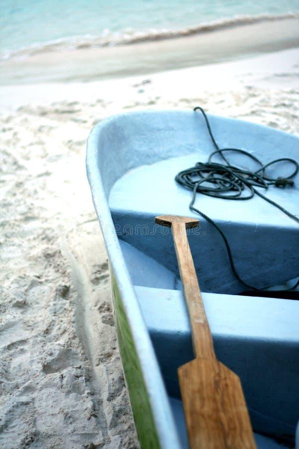 海滩小船 库存图片