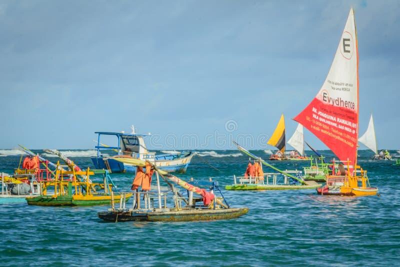海滩巴西-波尔图de Galinhas 免版税库存照片