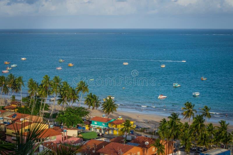 海滩巴西-马拉戈日,阿拉戈斯 库存照片