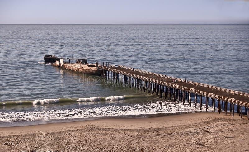 海滩布赖顿新的码头状态 库存照片