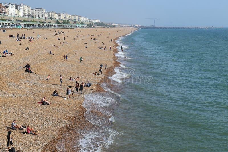 海滩布赖顿 免版税库存照片