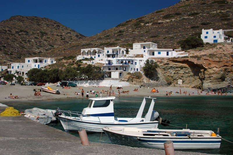 海滩希腊海岛 免版税库存图片