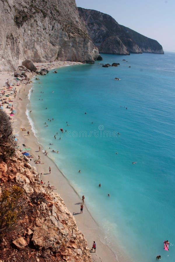 海滩希腊katsiki lefkada波尔图 库存照片