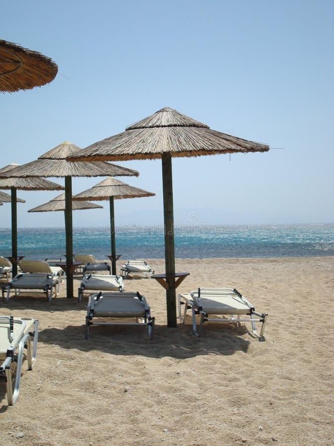 海滩希腊mykonos 库存照片