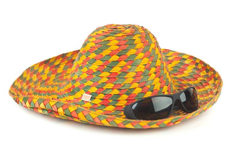 海滩帽子太阳镜 免版税库存照片