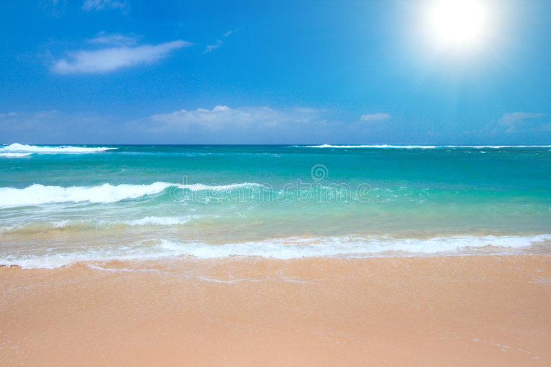 海滩平安的场面 免版税图库摄影