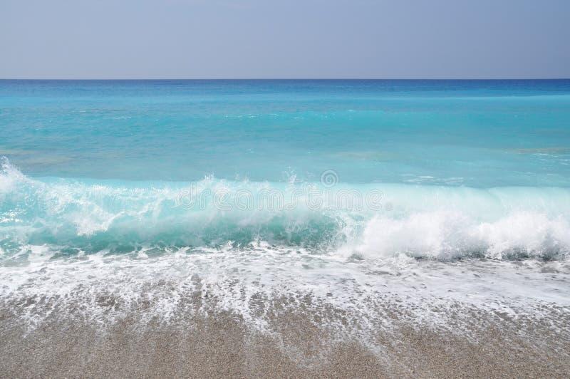 海滩异乎寻常的通知 免版税库存照片